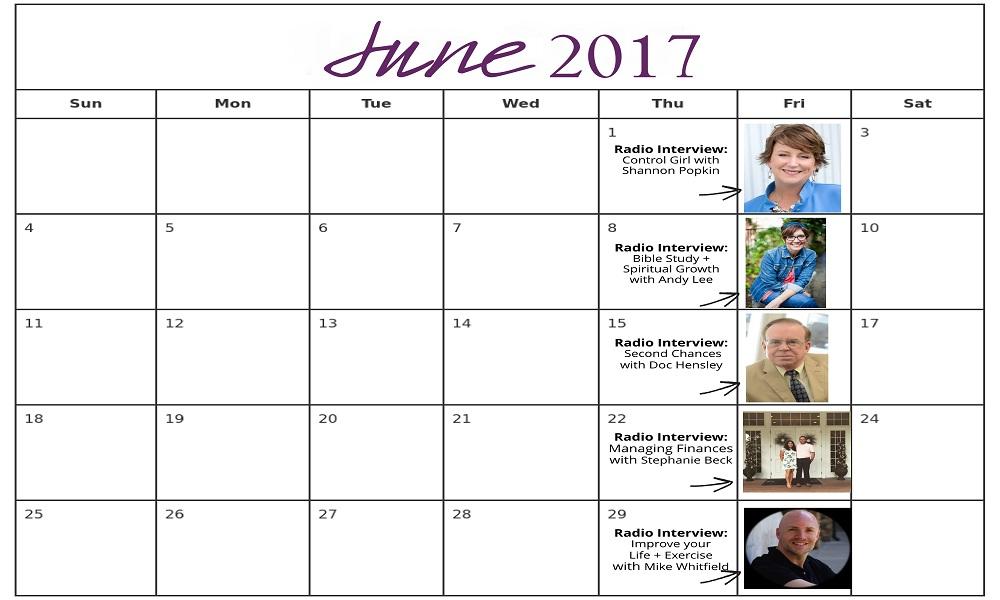 June 2017 Radio Schedule for Website