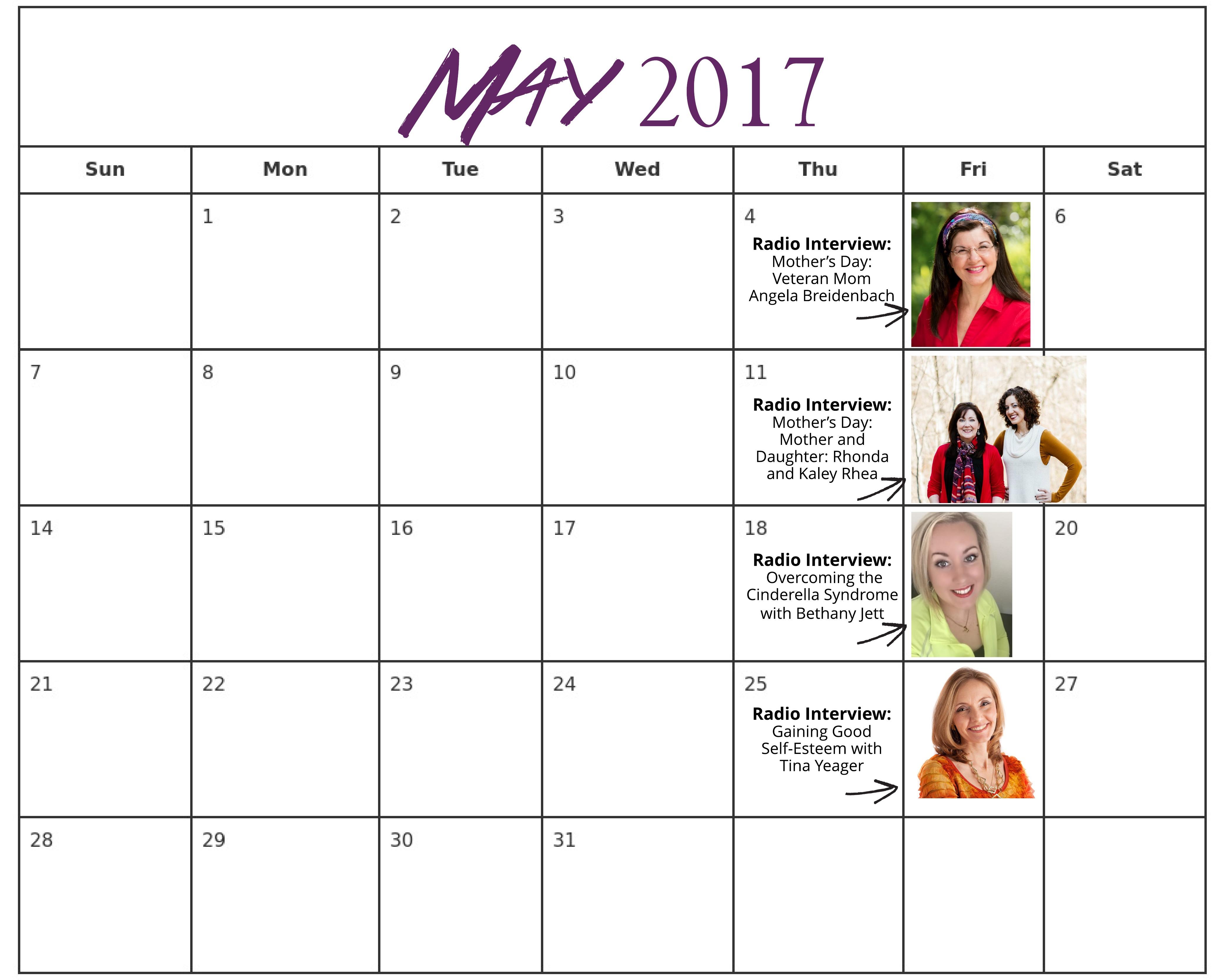 May 2017 Radio Schedule for Website