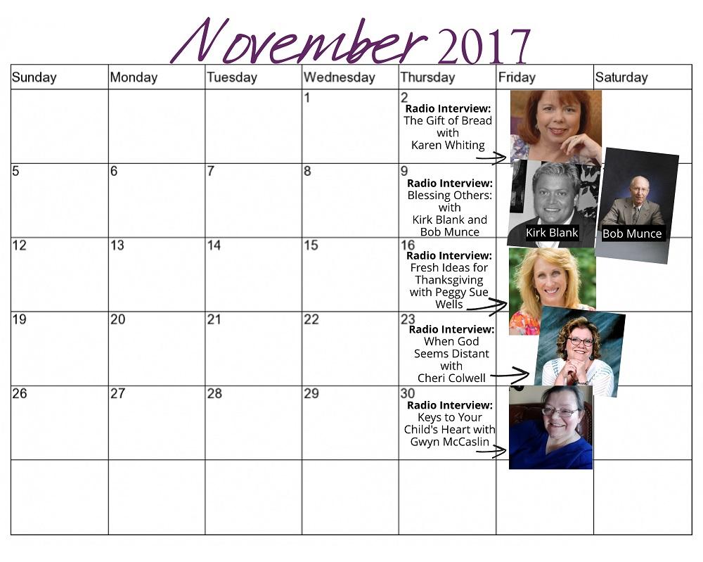 November 2017 Radio Schedule for Website