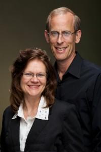 Lisa Cherry and her husband.
