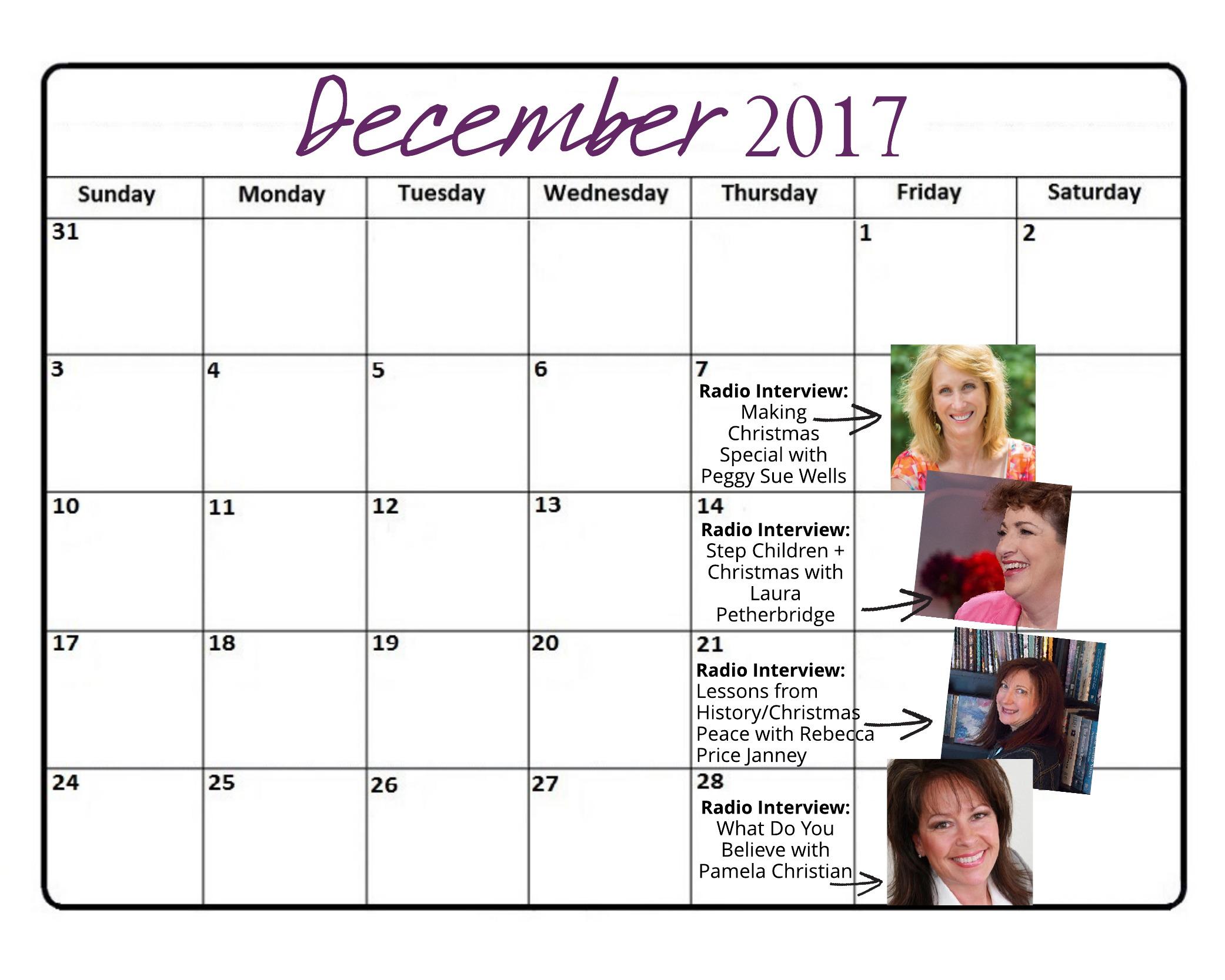 December 2017 Radio Schedule for Website