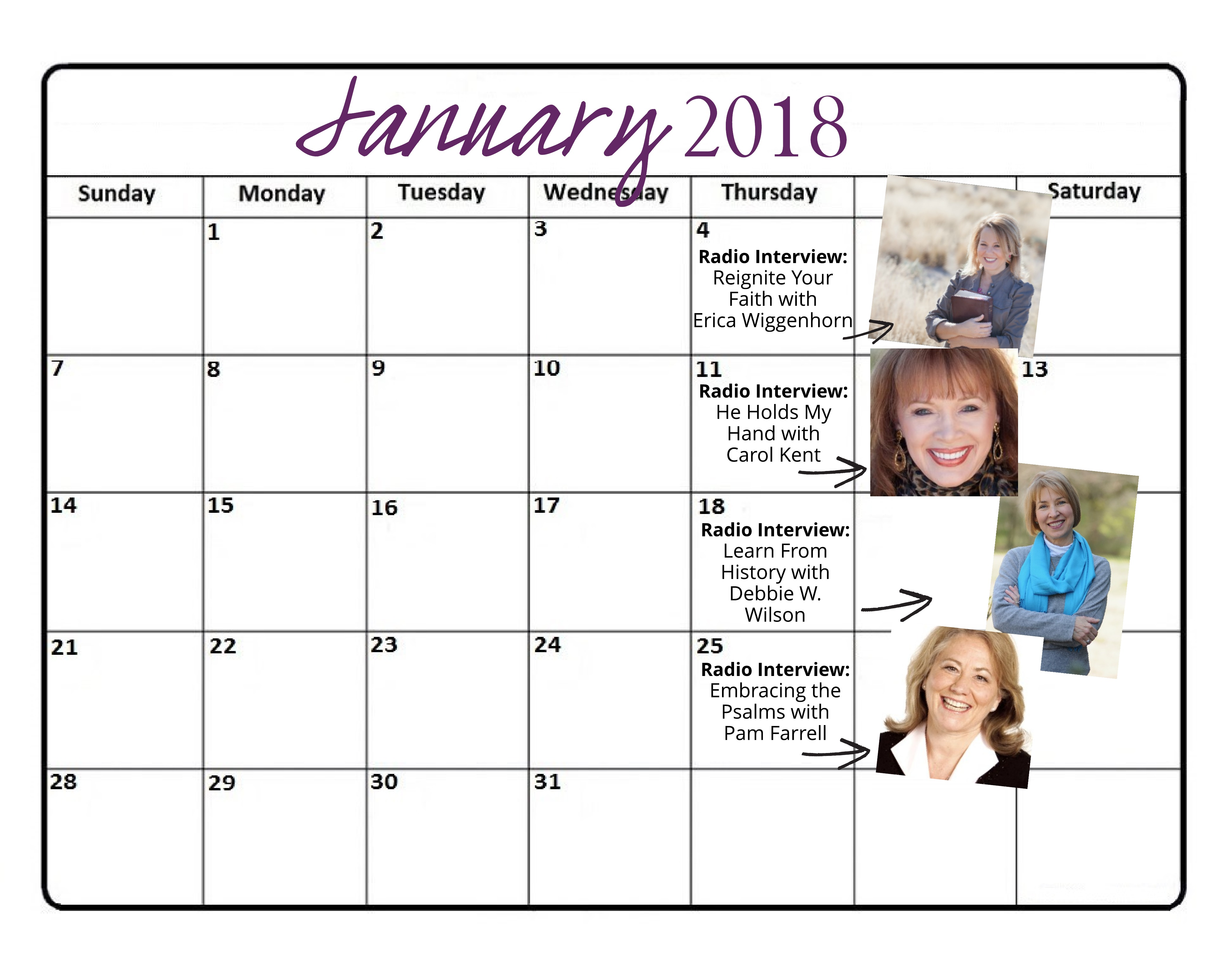 New-January 2018 Radio Schedule for Website