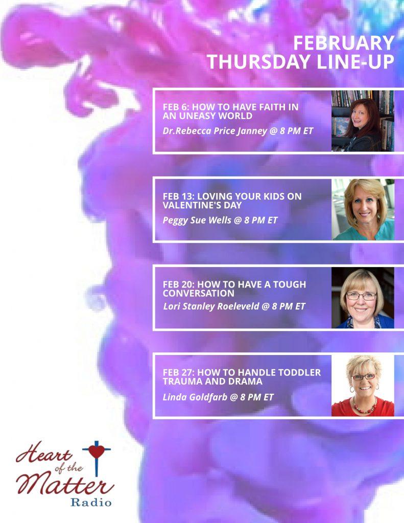 Feb 2020-Heart of the Radio Thursday Line-Up